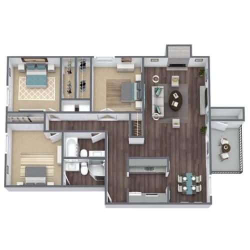 Floor Plan  C1 Floor Plan 3x2