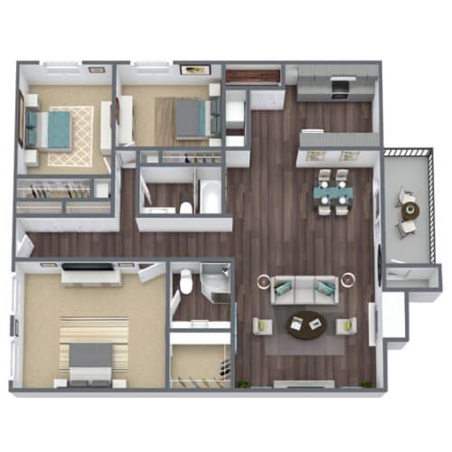 Floor Plan  C2 Floor Plan 3x2