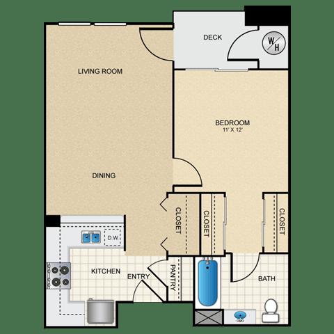 Floor Plan  1/1 A floorplan