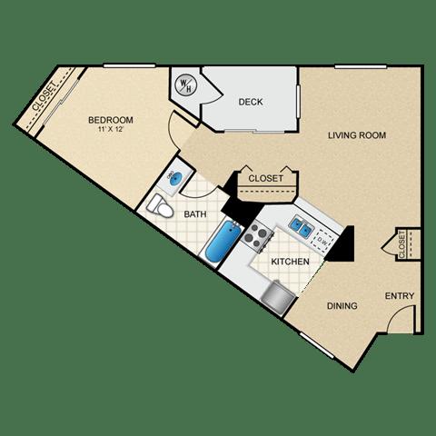 Floor Plan  1/1 B floorplan