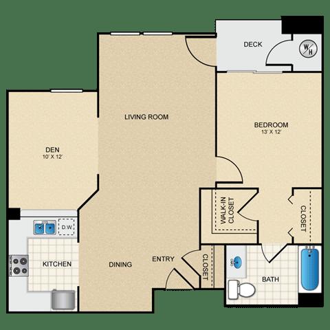 Floor Plan  1/1 C floorplan