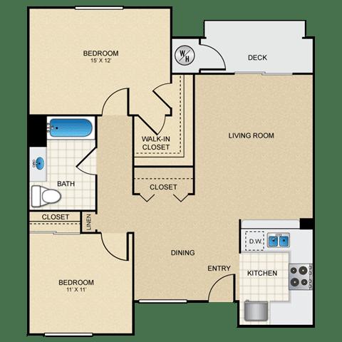 Floor Plan  2/1 B floorplan