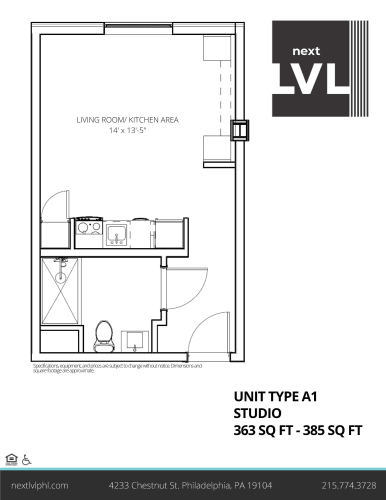 Floor Plan  Next LVL in University City Luxury Studio Apartment