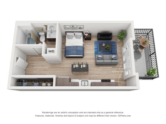 Floor Plan  North Hollow Apartments A2.1 Floor Plan