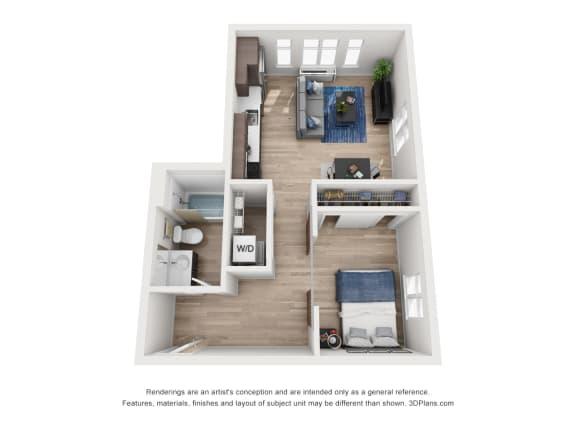 Floor Plan  North Hollow Apartments B1 Floor Plan