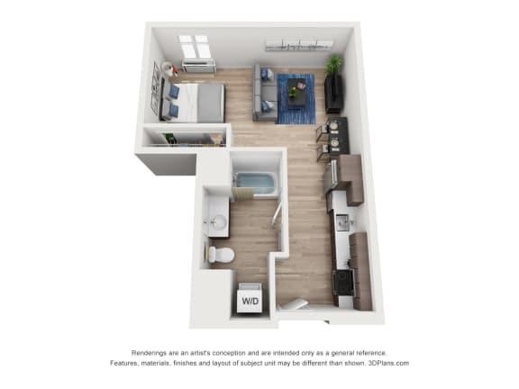 Floor Plan  North Hollow Apartments B2 Floor Plan