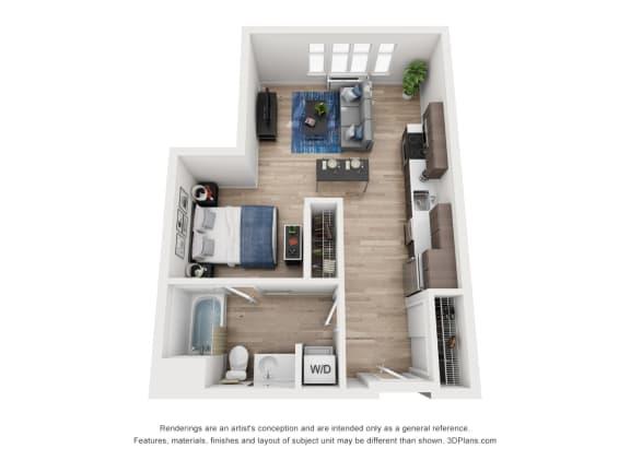Floor Plan  North Hollow Apartments B3 Floor Plan