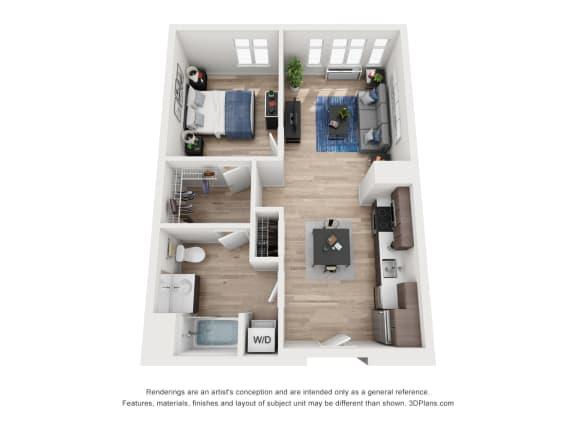 Floor Plan  North Hollow Apartments C1 Floor Plan