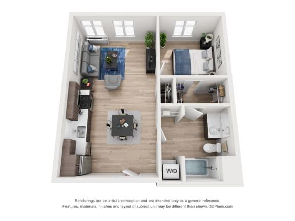 Floor Plan  North Hollow Apartments C2 Floor Plan