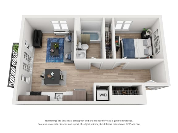 Floor Plan  North Hollow Apartments C4 Floor Plan