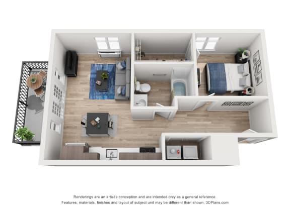 Floor Plan  North Hollow Apartments C5 Floor Plan