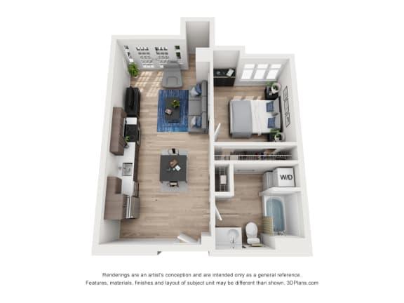 Floor Plan  North Hollow Apartments C6 Floor Plan
