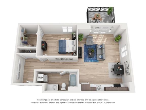 Floor Plan  North Hollow Apartments C7 Floor Plan