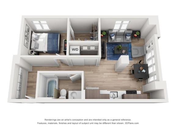 Floor Plan  North Hollow Apartments C8 Floor Plan
