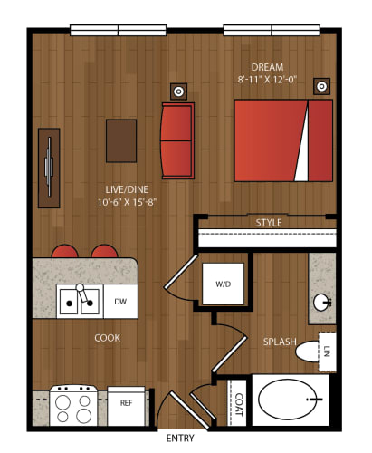 Floor Plan  Ella Apartments S1 Floor Plan