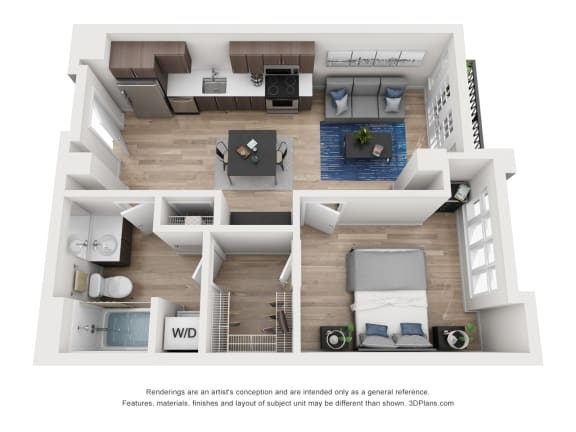 Floor Plan  North Hollow Apartments C9 Floor Plan