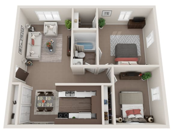 Floor Plan  The Hemingway - Renovated