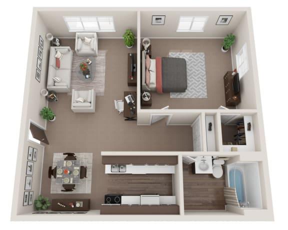 Floor Plan  The Twain - Renovated