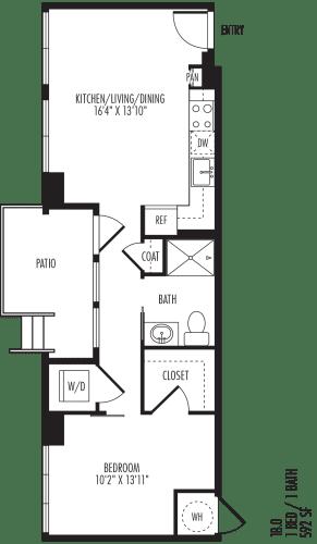 Floor Plan  TriVista on Speer 1B0 Floor Plan
