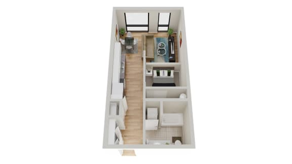 Floor Plan  TheNest_Bend_OR_FloorPlan_Studio