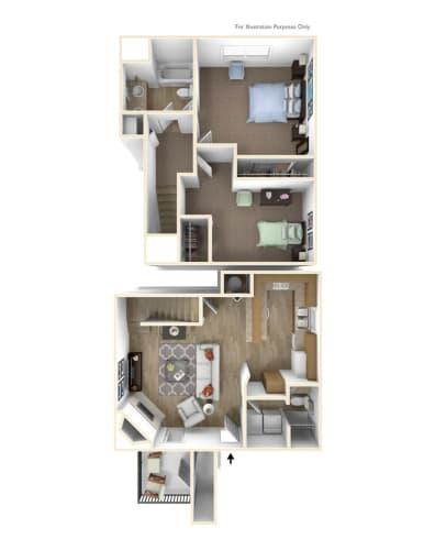 Floor Plan  Springfield, OR Brentwood Estates 2 bedrooms 2 baths
