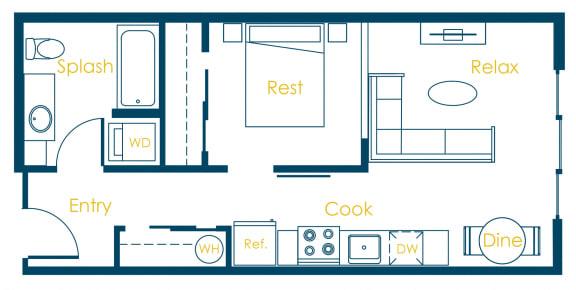 Floor Plan  CREW Apartments cornell Floor Plan