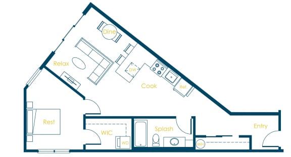 Floor Plan  CREW Apartments Harvard Floor Plan