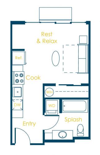 Floor Plan  CREW Apartments London Floor Plan