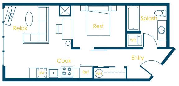 Floor Plan  CREW Apartments Oxford Floor Plan