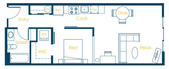 Floor Plan  CREW Apartments Penn Floor Plan