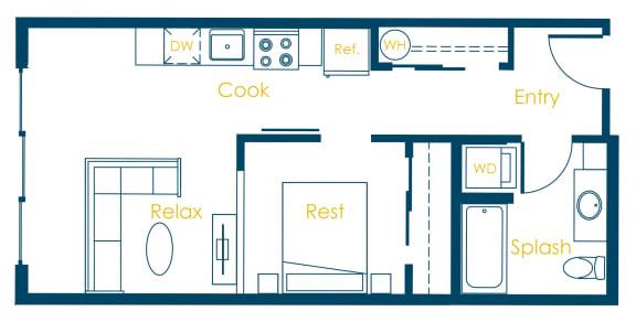 Floor Plan  CREW Apartments Princeton Floor Plan