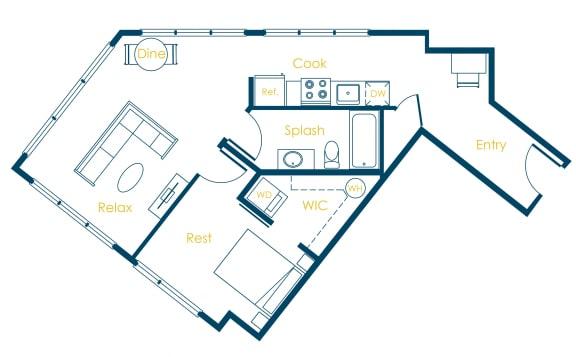 Floor Plan  CREW Apartments Rutgers Floor Plan