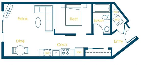 Floor Plan  CREW Apartments Washington Floor Plan
