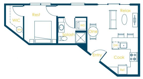 Floor Plan  CREW Apartments Yale Floor Plan