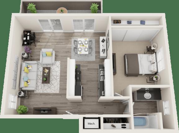 Floor Plan  Hillside Gardens Apartments Castle Peak Floor Plan