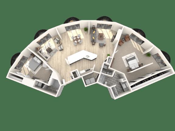 Floor Plan  Tower801 2x2.5 Pent House A Floor Plan