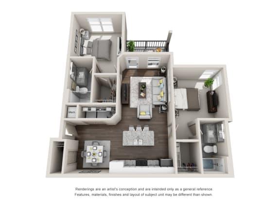 Floor Plan  Smyrna 2 Bed 2 Bath Floor Plan at Tomoka Pointe, Florida