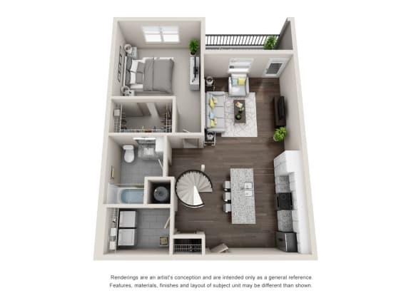 Floor Plan  Ormond 1FL 1 Bedroom 1 Bathroom Floor Plan at Tomoka Pointe, Daytona Beach, 32117