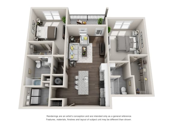 Floor Plan  Tarpon 2 Bed 2 Bath Floor Plan at Tomoka Pointe, Daytona Beach, 32117