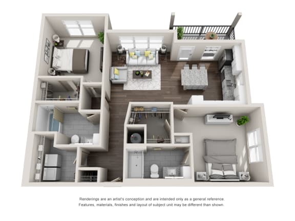 Floor Plan  Connor 2 Bed 2 Bath Floor Plan at Tomoka Pointe, Daytona Beach, FL, 32117
