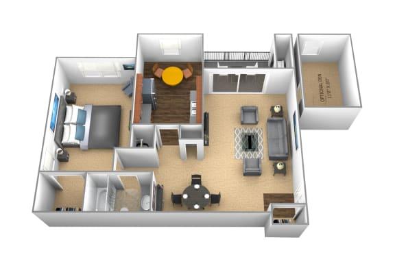 Floor Plan  1 bedroom 1 bathroom floor plan at Cromwell Valley Apartments in Towson MD