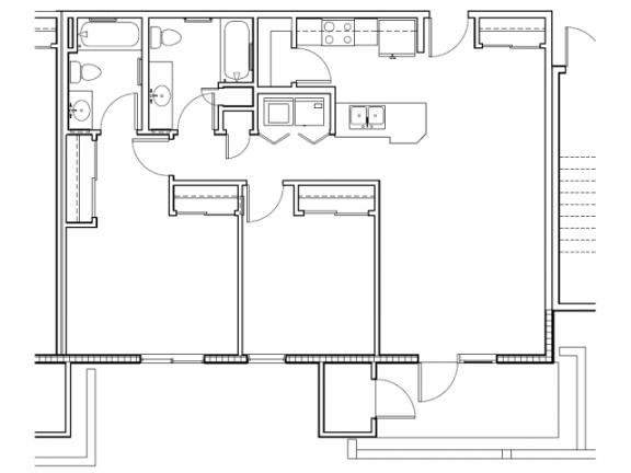 Floor Plan  2 bedroom 2 bathroom at Grandfamilies Place in Phoenix, AZ