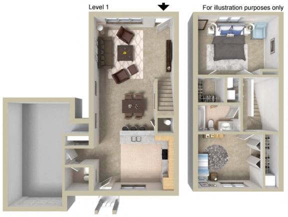 Floor Plan  Townhouse B