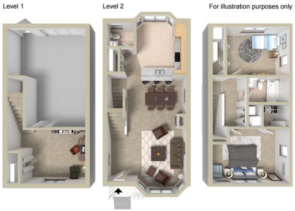 Floor Plan  Townhouse C