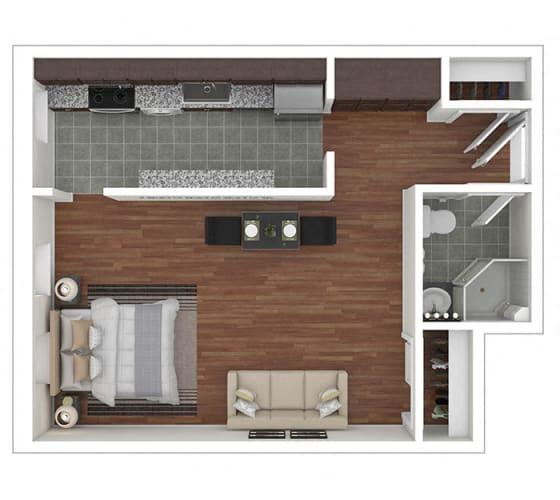 Floor Plan  The Metropolitan Studio T01, 31 floor plan