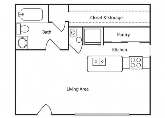 Floor Plan  Sundown Studio 600