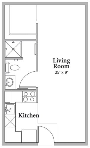 Floor Plan  Studio Floor Plan at Middle Creek Village LLC, Colorado