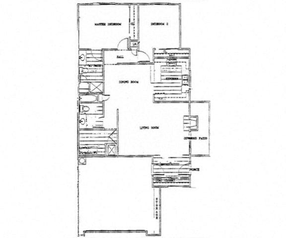 Floor Plan  Birch Court 2 Bedroom Floorplan