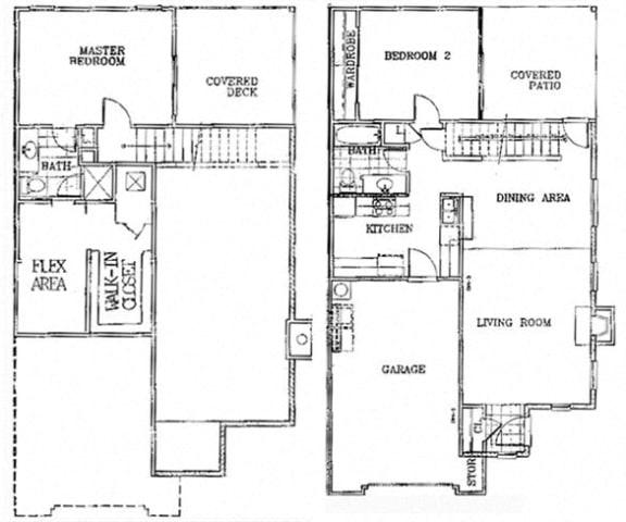 Floor Plan  Birch Court 2 Bedroom Townhouse Floorplan