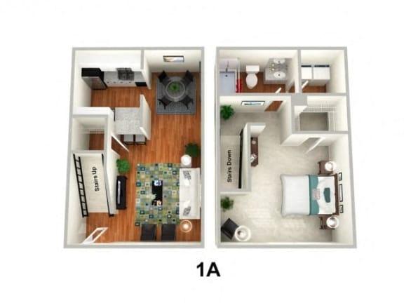 Floor Plan  1 Bed 1 Bath Floor Plan at Sundance Creek Apartments, McDonough